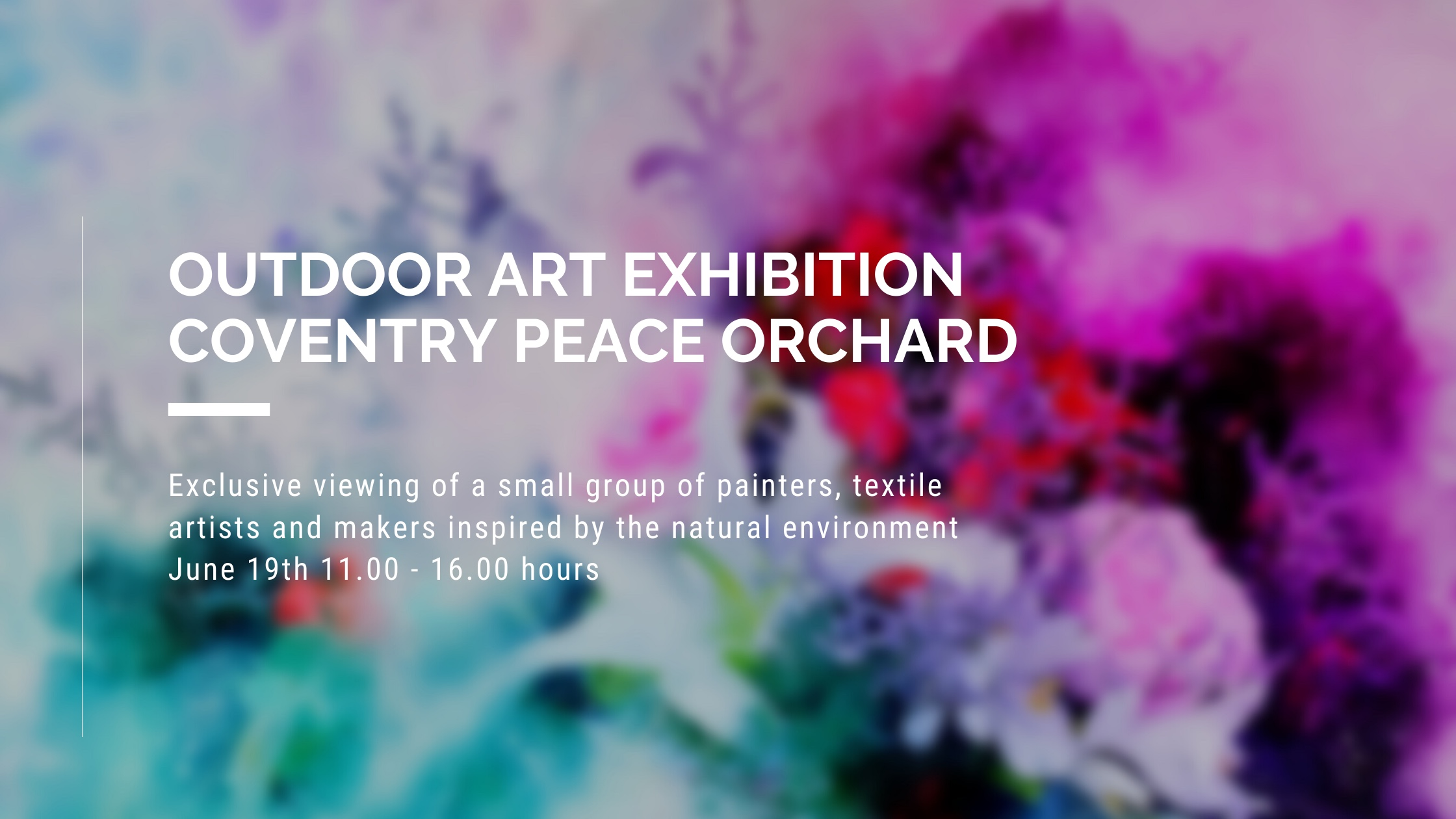 Exclusive viewing of a small group of painters, textile artists and makers inspired by the natural environment.